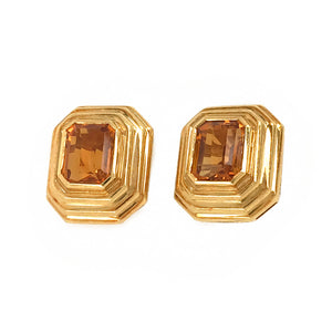 Tambetti 18k Yellow Gold Citrine Clip-ons Earrings