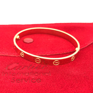 Cartier 18k Yellow Gold Aldo Cipullo Love Bracelet Size 16cm