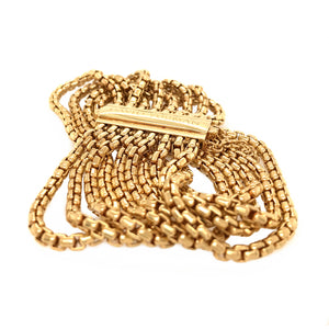 David Yurman 18k Yellow Gold 8 Row Chain Bracelet