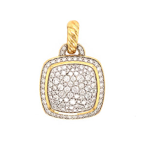 David Yurman 18k Yellow Gold Albion Pave Diamond Pendant