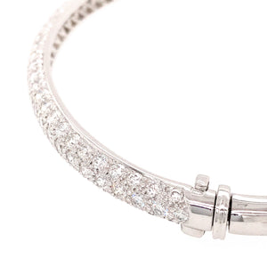 Tiffany and Co. Platinum 3 Row Diamond Pave Bracelet