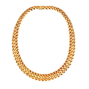Tiffany & Co. 18k Gold Vannerie Weave Necklace