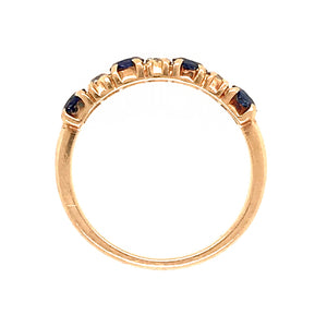 Pretty 14k Yellow Gold Sapphire and Diamond Ring