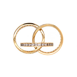 Beautiful 18k Yellow Gold Trinity Rolling Ring
