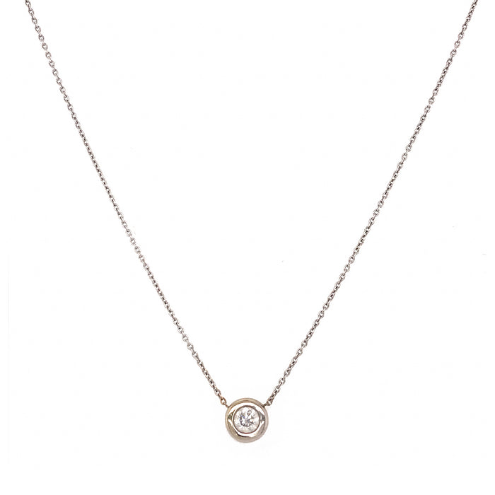 Roberto Coin 18k White Gold Diamond Pendant Necklace