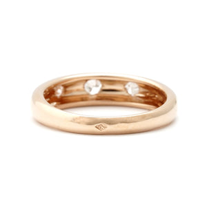 Van Cleef & Arpels 18K Rose Gold Diamond Ring Size: 6.25