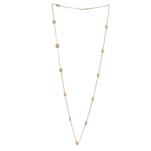 Mauboussin 18K Yellow Gold Diamond Floral Necklace Length: 36.5""