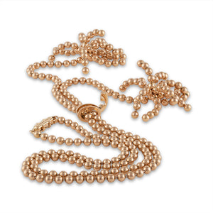 "Cartier 18K Rose Gold Paris ""Nouvelle Vague"" Diamond Necklace Length: 19"""