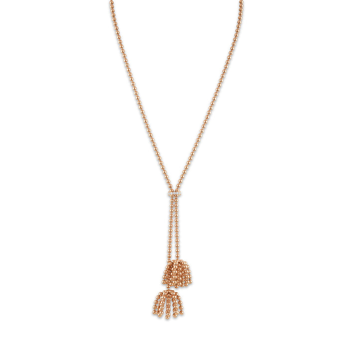 Cartier 18K Rose Gold Paris Nouvelle Vague Diamond Necklace Length 19 inches