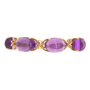 18k Yellow Gold Amethyst Bracelet
