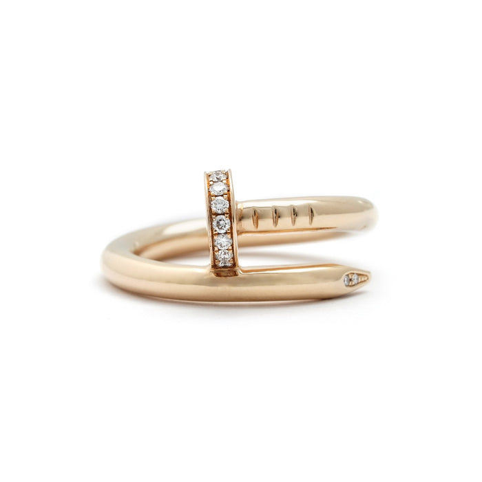 Cartier 18K Rose Gold Diamond Juste Un Clou Ring Size: 6