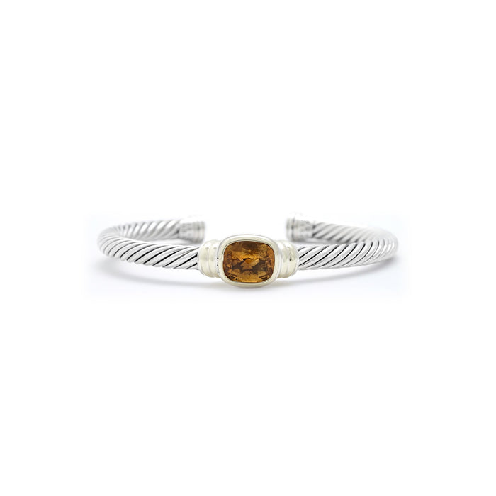 David Yurman 14K Sterling Silver Citrine Cable Bracelet
