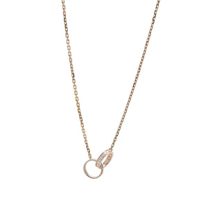 Cartier 18K Rose Gold Diamond Love Necklace Length: 18""