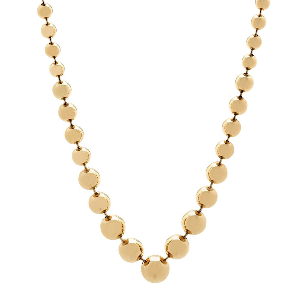 Cartier 18K Yellow Gold Heavy Beads Necklace Length: 16""