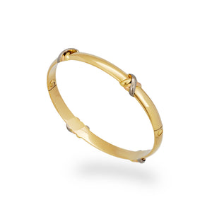 Cartier 18K Yellow and White Love Trinity Bangle Size: 17 cm
