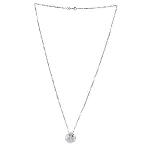Chanel 18K White Gold Diamond Flower Necklace