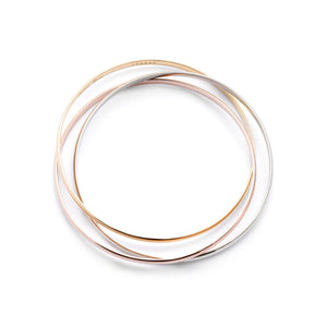 Cartier 18K Yellow, White, and Rose Gold Trinity Bangle