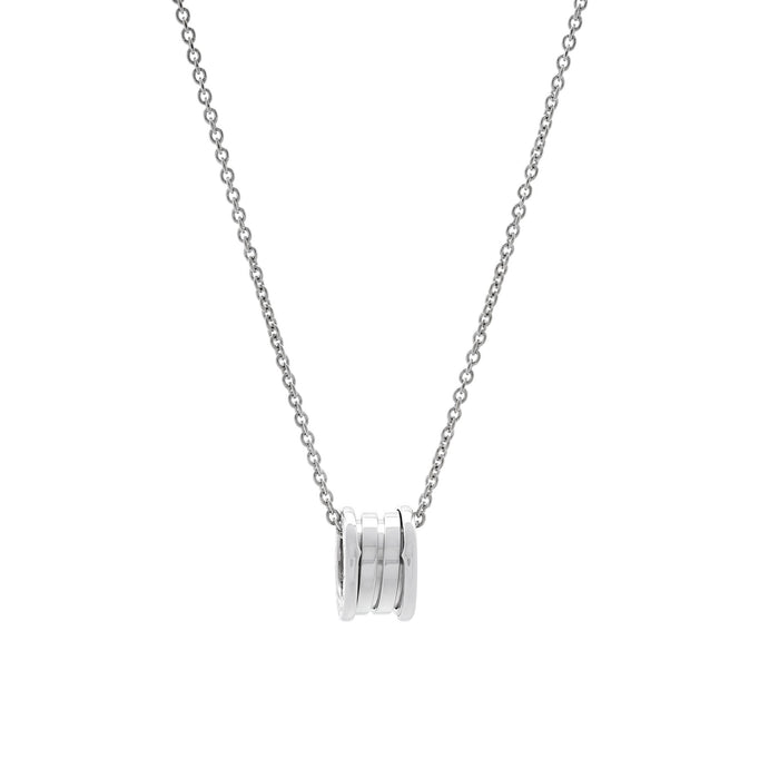 Bvlgari 18K White Gold B.Zero1 Necklace Length: 16""