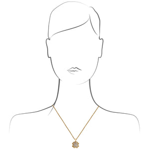Cartier 18K Yellow Gold Diamond Clover Pendant Necklace Length: 16.75""