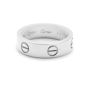 Cartier 18K White Gold Love Ring Size: 7