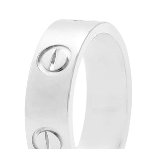 Cartier 18K White Gold Love Ring Size 5.75