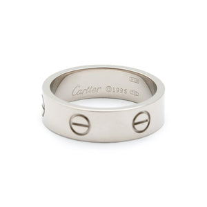 Cartier 18K White Gold Love Ring Size: 8.75