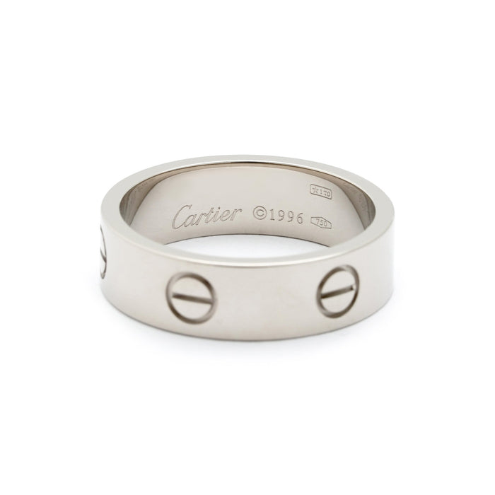Cartier 18K White Gold Love Ring Size 8.75