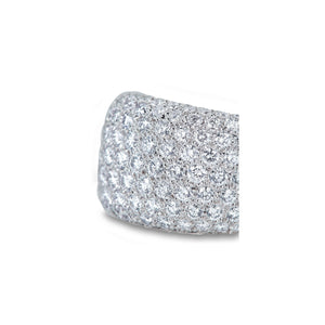 Cartier 18K White Gold Diamond Pave Ring Size 5.5