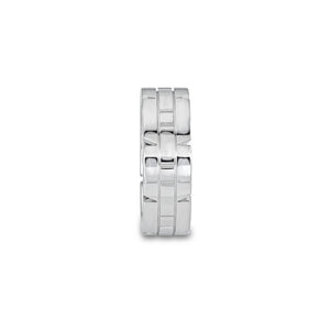 Cartier 18K White Gold Tank Francaise Ring Size: 4.25