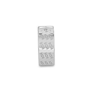 Cartier 18K White Gold Double C Ring Size: 6