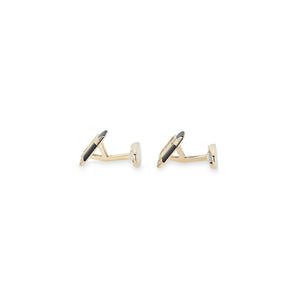 Piaget 18K Yellow Gold Onyx Diamond Cufflinks