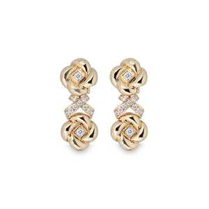 Dior 18K Yellow Gold Diamond Earrings