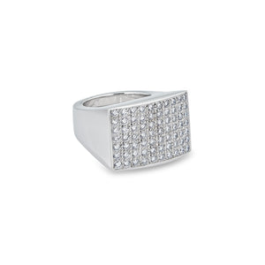 Piaget 18K White Gold Diamond Pave Ring Size: 7