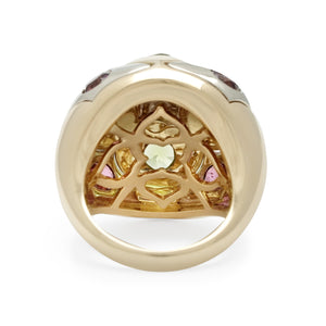 Bvlgari 18K Yellow Gold Dome Ring Size: 5.5