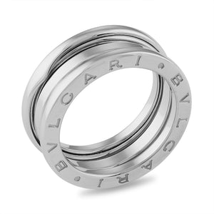 "Bvlgari 18K White Gold 3 Band ""B.Zero 1"" Band Ring Size: 6.5"