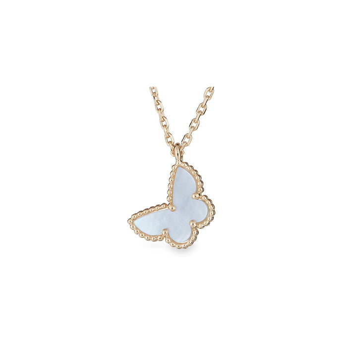 Van Cleef & Arpels 18K Yellow Gold Butterfly Sweet Alhambra Necklace Length: 16""