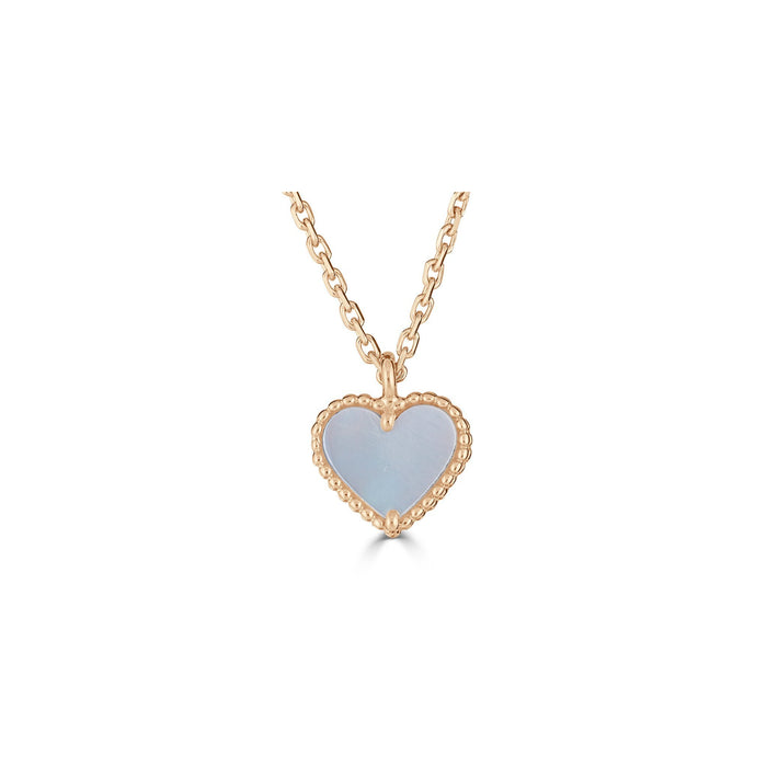 Van Cleef & Arpels 18K Yellow Gold Mother of Pearl Single Motif Alhambra Pendant Necklace Length: 16""