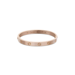 Cartier 18K Rose Gold Love Bracelet Size: 18cm