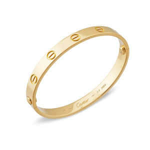 Cartier 18K Yellow Gold Love Bracelet Size: 16
