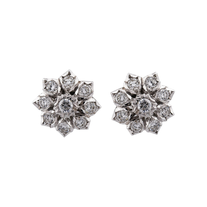 Mario Buccellati 18k White Gold Diamond Earrings