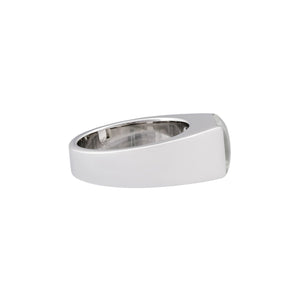 Cartier 18K White Gold Quartz Tank Ring Size 6