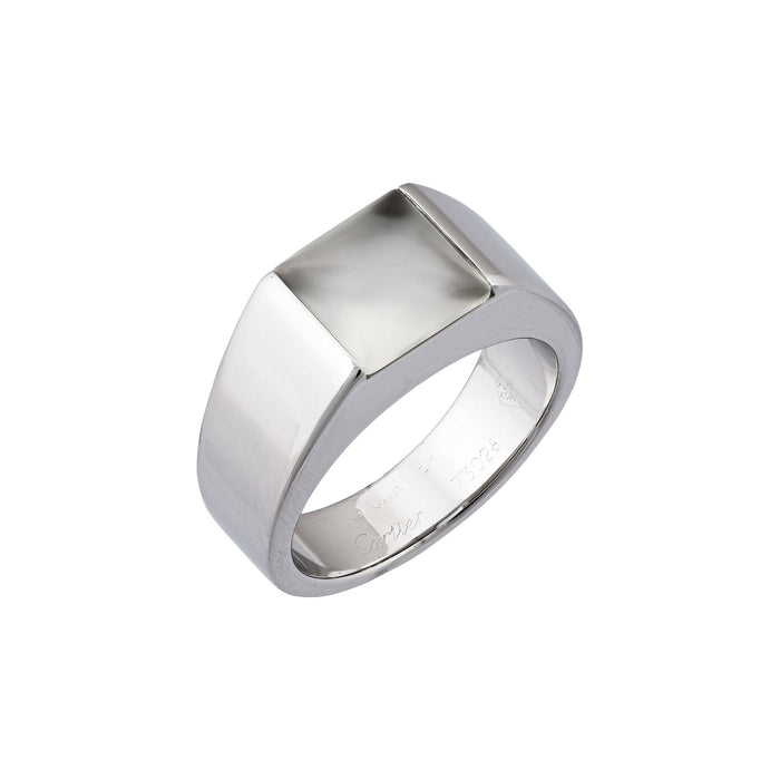 Cartier 18K White Gold Quartz Tank Ring