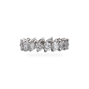 Graff Platinum Diamond Heart Shaped Ring Size 6