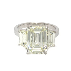GIA Certified Emerald Cut 5.02 Carat Diamond Ring