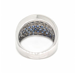 Sapphire and Diamond Ring 18k White Gold