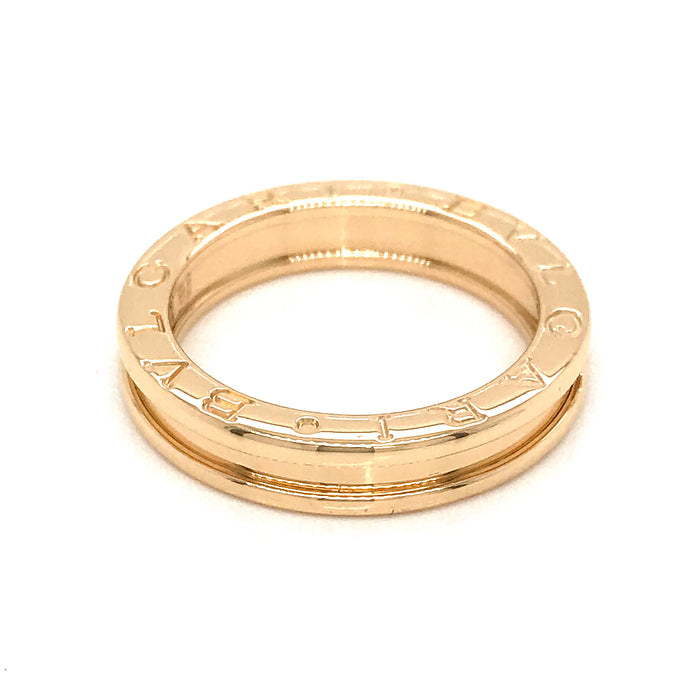 Bvlgari 18K Yellow Gold B.Zero1 One Band Ring Size 9.50