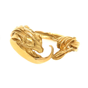 18k Yellow Gold Rams Head Bracelet