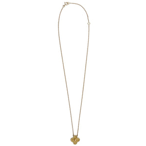 Van Cleef & Arpels 18K Yellow Gold Alhambra Necklace Size 16""