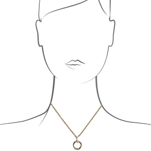 Cartier 18K Yellow, White, and Rose Gold Trinity Necklace Size: 16""