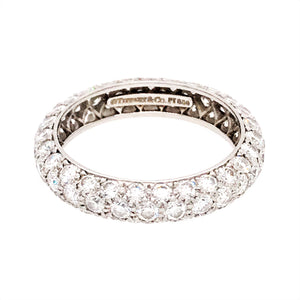 Tiffany and Co. Platinum Etoile Diamond Ring
